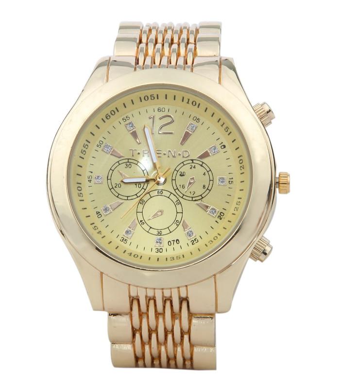 Smart ur i guldlook med kæde rem.