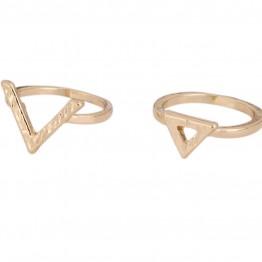 Image of   2 stk ringe i guldlook. - Størrelse (ring) - 17