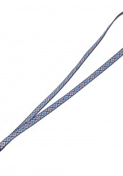 Keyhanger med mønster i lyseblå/ Lyserød