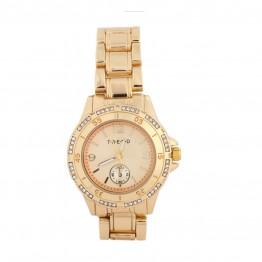 Lækkert ur i guldlook med simili sten.