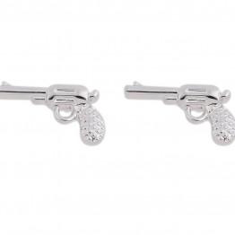 Pistol ørestikkere i sølvlook.