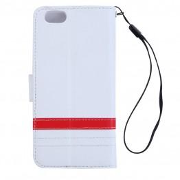 hvidt cover til iphone 6 med plads til kort.