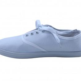 Gårdsanger sko i Hvid canvas.