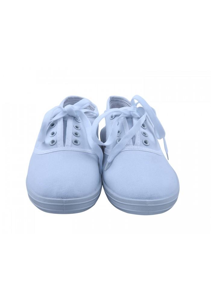 hvide canvas sko