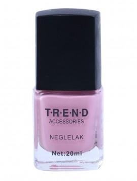 lyserød neglelak.