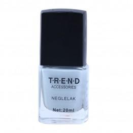 Helt lyse grå neglelak.