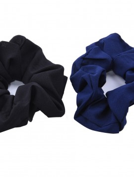2 stk Scrunchie i sort/ blå.