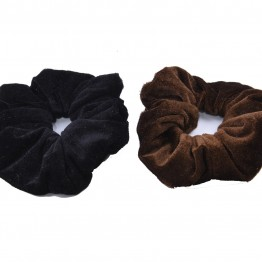 2 stk Scrunchie i sort/ brun