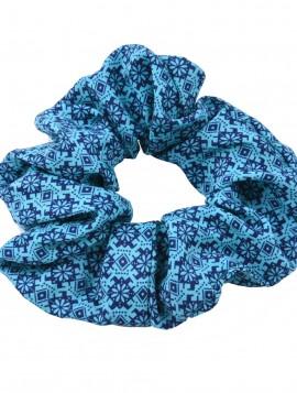 scrunchie i turkis/ marineblå.