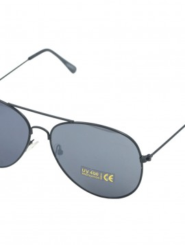 Sort solbrille med tyndt stel.