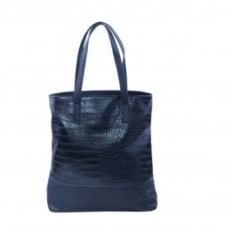 Skulder taske i sort pu med snakelook.