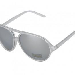 Gennemsigtig solbrille med spejl glas.