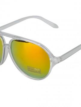 Gennemsigtig solbrille med mirror glas i brændte farver.