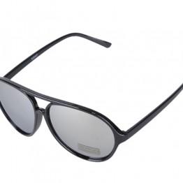 Sort solbrille med spejl glas.