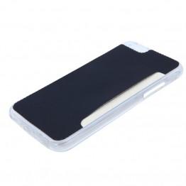 Silicone cover til iphone 6 i sort med plads til kort.