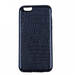 Sort silicone cover med snakelook til iphone 6.