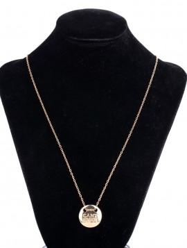 Halskæde med vedhæng i guldlook