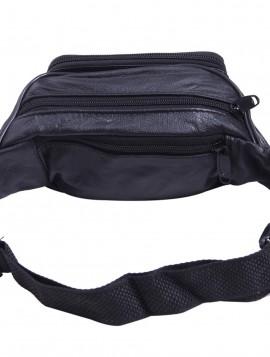 Bæltetaske i sort pu.