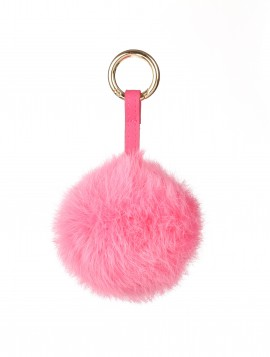 Key hanger med pink pels.