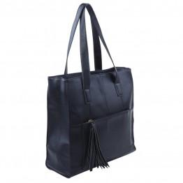 Taske i sort pu med skulder hank.