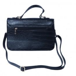 Taske i sort pu med snakelook.