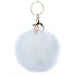 Key hanger i hvid pelslook