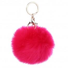 Keyhanger i pink pelslook