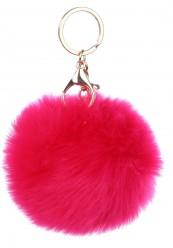 Keyhanger/ nøglering i pink pelslook