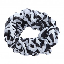 Sort/hvis scrunchie