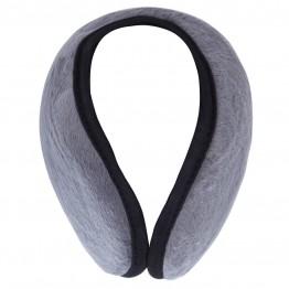 Ørevarmer i grå med sort kant.
