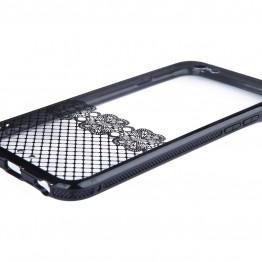 Gennemsigtig/sort silocone cover til iPhone 6