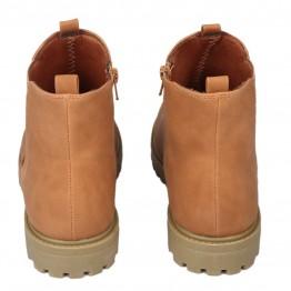 camel farvet kort støvle.