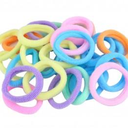 Image of   25 stk pastel farvede bomulds elastikker