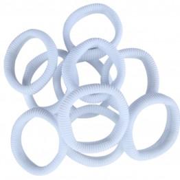 Image of   10 stk hvide bomulds elastikker