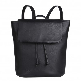 rygsæk i sort pu.