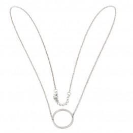 Halskæde i sølvlook med vedhæng