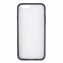 Gennemsigtig silicone cover med sort kant.