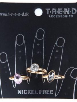 Sæt med 3 ringe