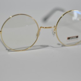 Runde briller med klart glas