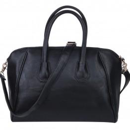Lækker skulder taske i sort pu.
