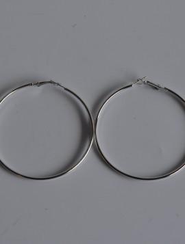 Creoler i sølvlook 6,5cm