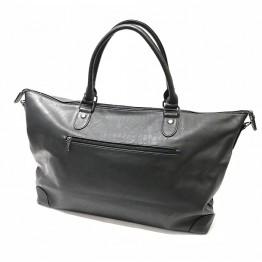 Rejse taske i sort pu.