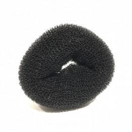 Hår donut sort 9cm