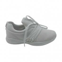 Letvægts sneakers i hvid pu.