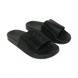 Sandal i sort  med simili.
