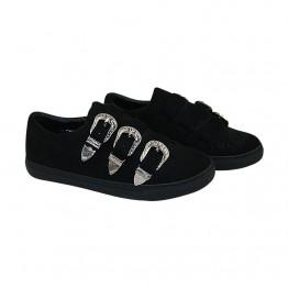 Sneakers med spænde