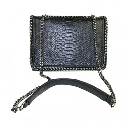 Sort taske med kæde