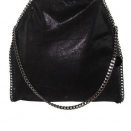 Sort taske med kæderem