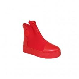 Rød plateau sneakers