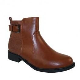 Klassisk støvle med spænde i pu.